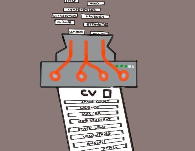 machine à compétences pour le CV