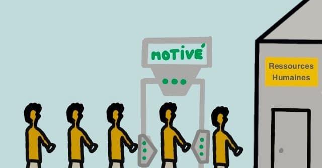 queue pour un emploi et portail de motivation